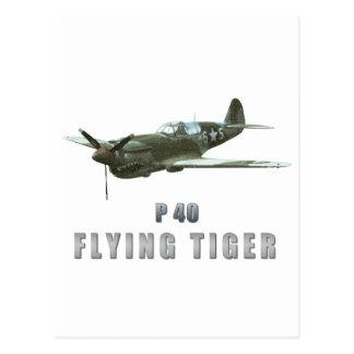 Tigre del vuelo tarjetas postales