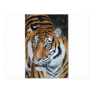 Tigre del Watercolour Tarjeta Postal