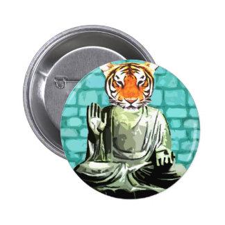Tigre del zen pin redondo 5 cm