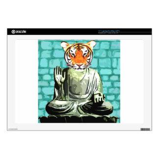 Tigre del zen portátil calcomanía