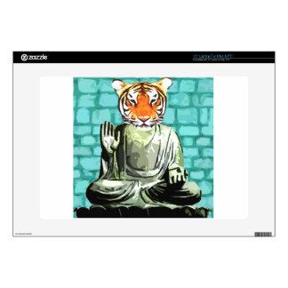 Tigre del zen portátil calcomanías