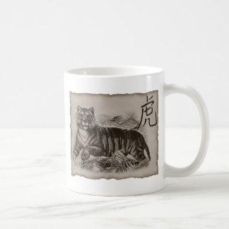 Tigre del zodiaco taza clásica
