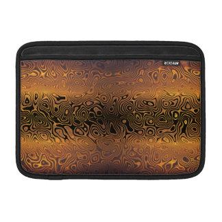 Tigre derretido - negro y extracto del bronce fundas macbook air