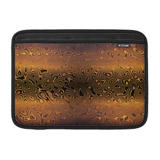 Tigre derretido - negro y extracto del bronce funda  MacBook