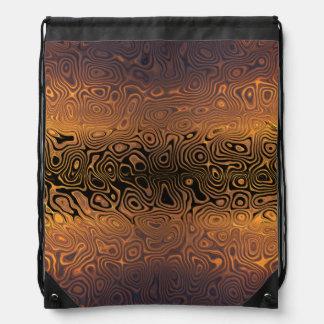 Tigre derretido - negro y extracto del bronce mochilas