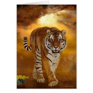 Tigre - después de la tormenta - tarjeta de felici