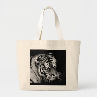 Tigre dramático hermoso bolsas de mano
