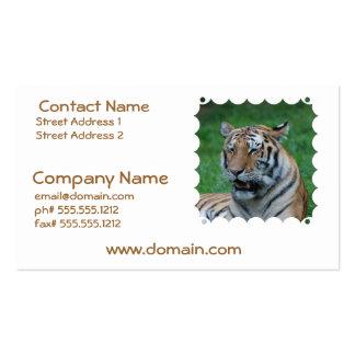 Tigre el gruñir tarjeta de visita