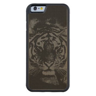 Tigre elegante de madera funda de iPhone 6 bumper arce