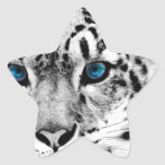 Tigre-en-blanco-y-negro.jpg Calcomania Forma De Estrella Personalizadas