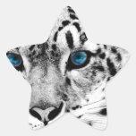 Tigre-en-blanco-y-negro.jpg Pegatina En Forma De Estrella
