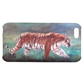 Tigre en el caso de IPhone 4 del vagabundeo