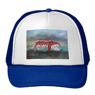 Tigre en el gorra del vagabundeo