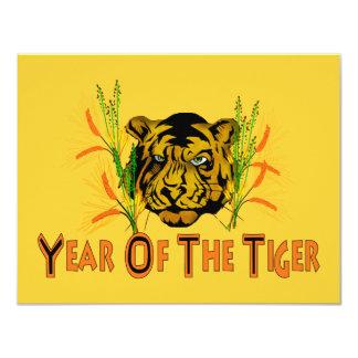 """Tigre en la hierba invitación 4.25"""" x 5.5"""""""