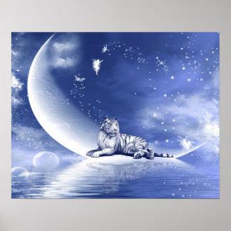 Tigre en la luna póster