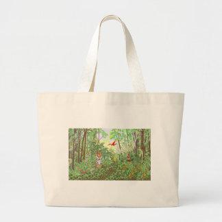 Tigre en la selva tropical bolsas