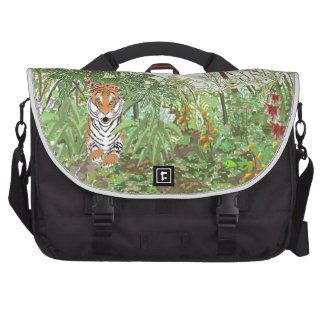 Tigre en la selva tropical bolsas para portatil