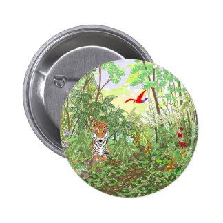 Tigre en la selva tropical pins