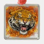 tigre en llama