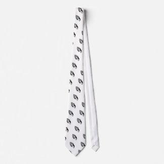 Tigre en llamas corbatas personalizadas