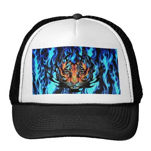 Tigre en llamas gorra