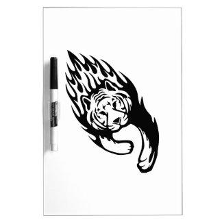 Tigre en llamas pizarras