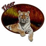 Tigre en óvalo esculturas fotograficas