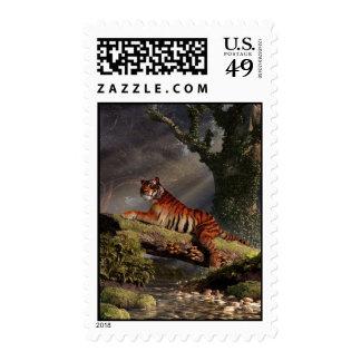 Tigre en un registro sellos