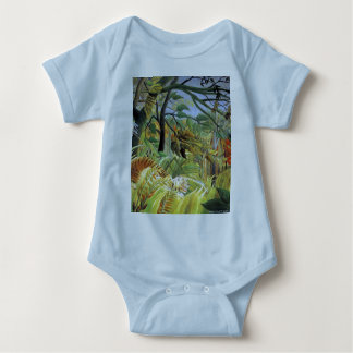 Tigre en una tormenta tropical body para bebé