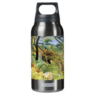 Tigre en una tormenta tropical botella isotérmica de agua