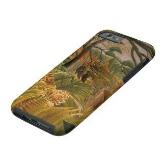 Tigre en una tormenta tropical de Henri Rousseau Funda Resistente iPhone 6