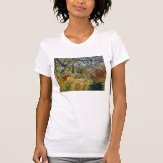 Tigre en una tormenta tropical (sorprendida!) camisas