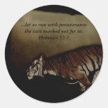 ¡Tigre Encouragment inspirado para correr la Pegatina Redonda