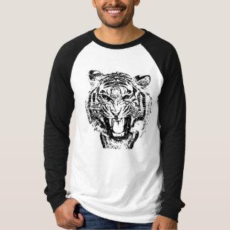 Tigre enojado camisas