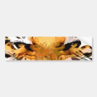 Tigre enojado - ojos del tigre pegatina de parachoque