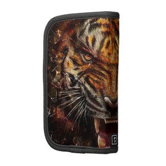 Tigre enojado que rompe Yelow de cristal Organizadores
