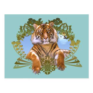 Tigre - especie en peligro postal
