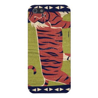 Tigre estilizado iPhone 5 funda