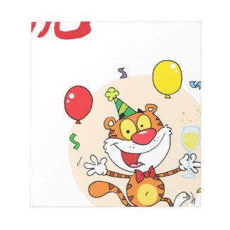 Tigre feliz en fiesta bloc