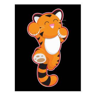 Tigre feliz lindo postales