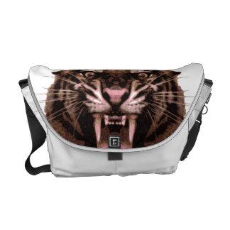 Tigre feroz bolsas de mensajería