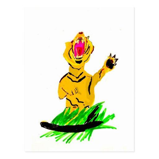 Tigre feroz postales