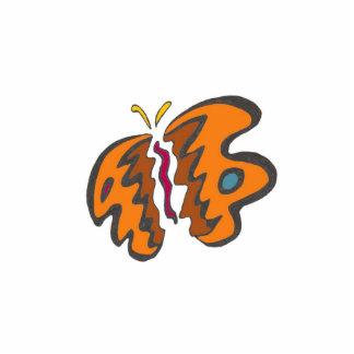 Tigre Flutterfly Fotoescultura Vertical