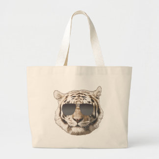 Tigre fresco bolsa tela grande