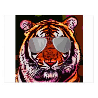 Tigre fresco tarjetas postales