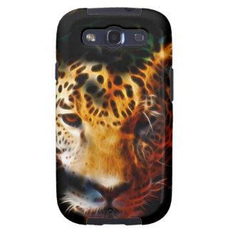 Tigre fuera del negro samsung galaxy s3 cárcasas