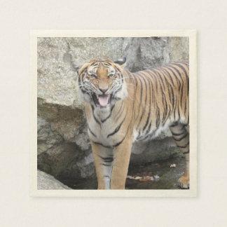 tigre fuerte servilleta de papel