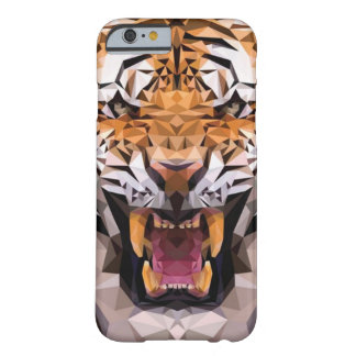 Tigre geométrico funda de iPhone 6 barely there