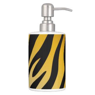 Tigre gráfico del naranja del negro del estampado  vaso para cepillos de dientes