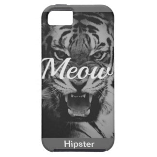 Tigre Hipster Black uni Style genial fight hip iPhone 5 Case-Mate Fundas